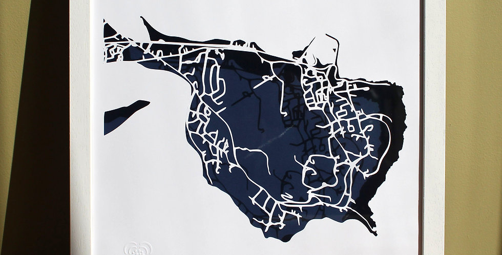 Howth papercut map