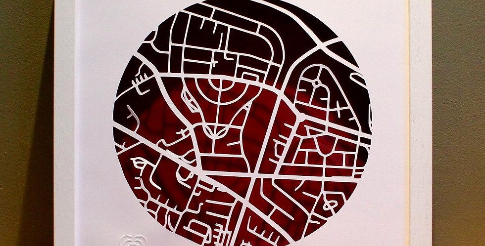 Cabra papercut map