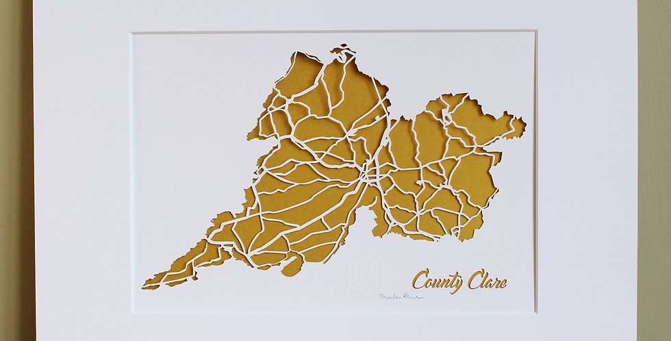 Clare papercut map
