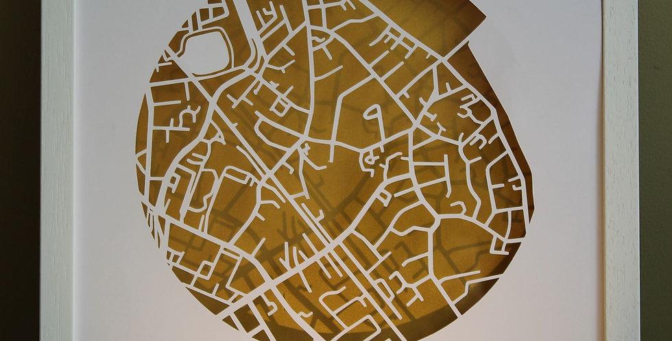 Sandymount papercut map