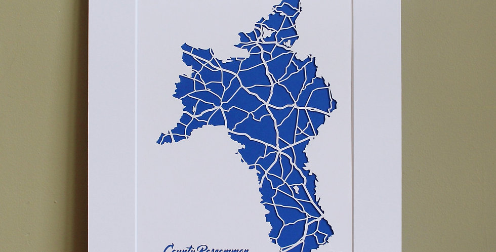 Roscommon papercut map