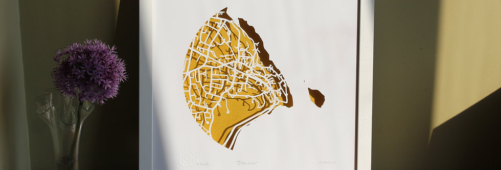 Dalkey Papercut map