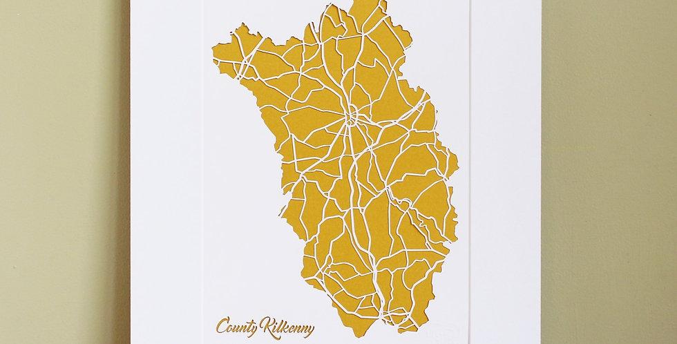 Kilkenny papercut map