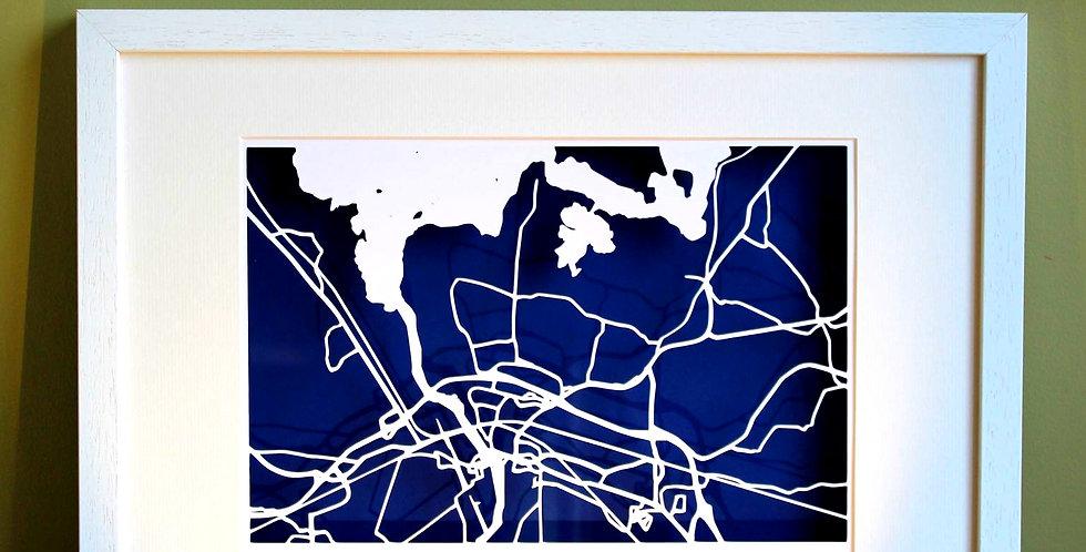 Athlone papercut map