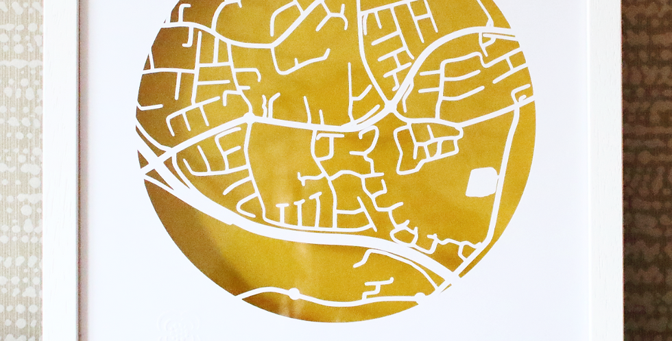 Scholarstown road papercut map