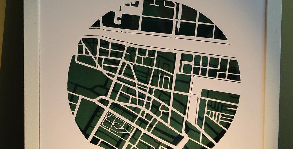 Dublin 2 papercut map