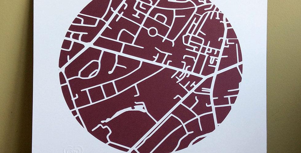 Terenure papercut map