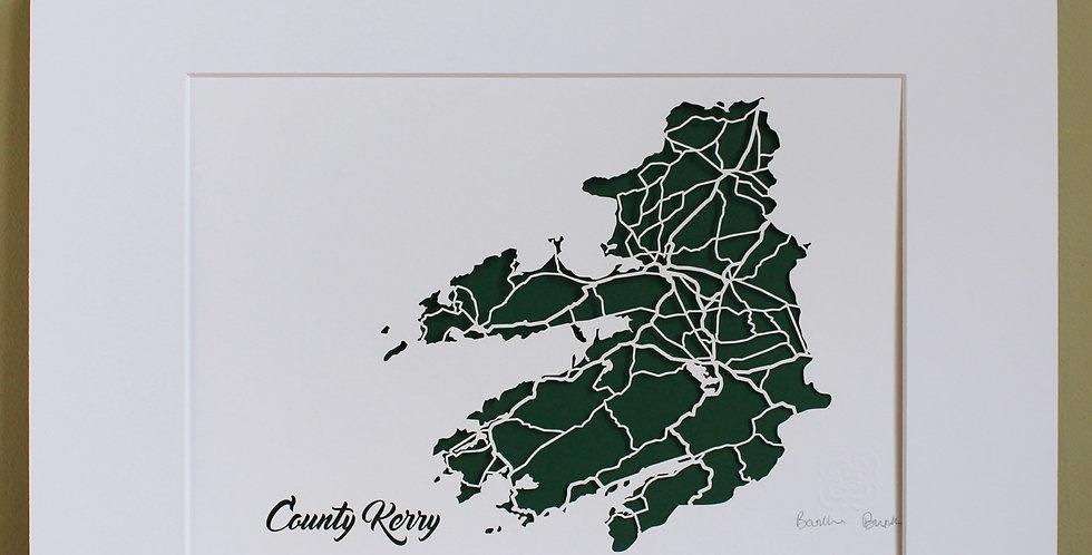 Kerry papercut map