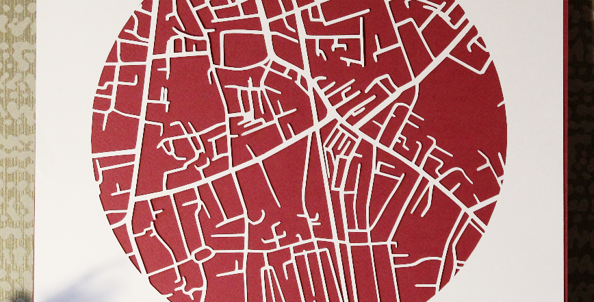 Ranelagh papercut map