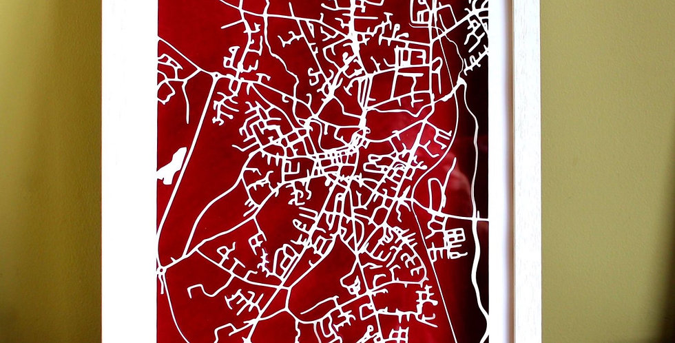 Ennis papercut map