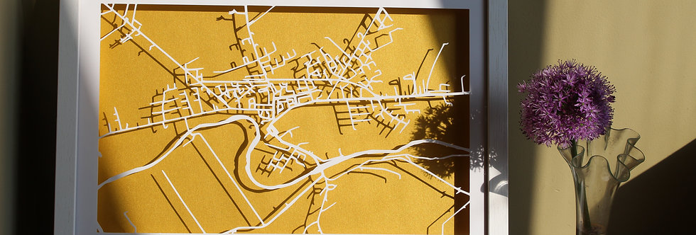 Listowel papercut map