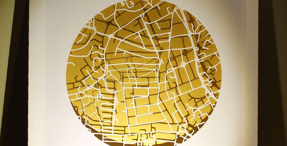 Mount Merrion papercut map