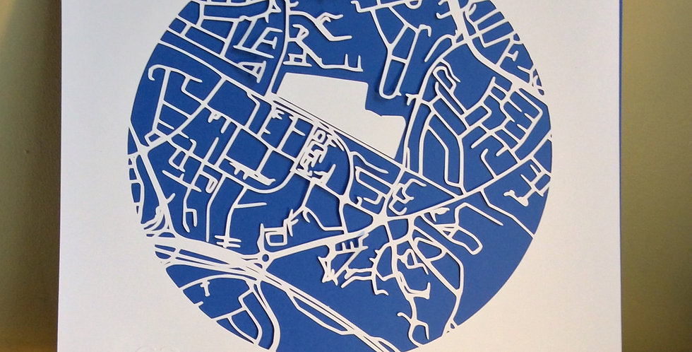 Leopardstown papercut map
