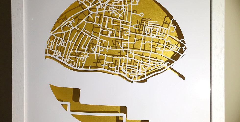 Clontarf Papercut map