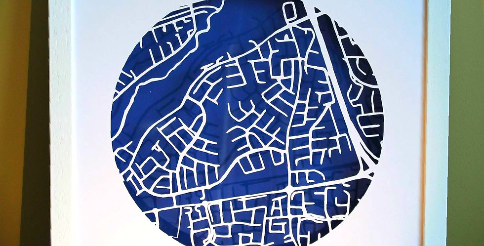 Firhouse papercut map