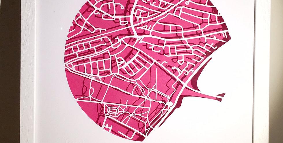 Raheny papercut map