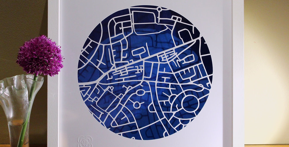 Crumlin papercut map, Dublin