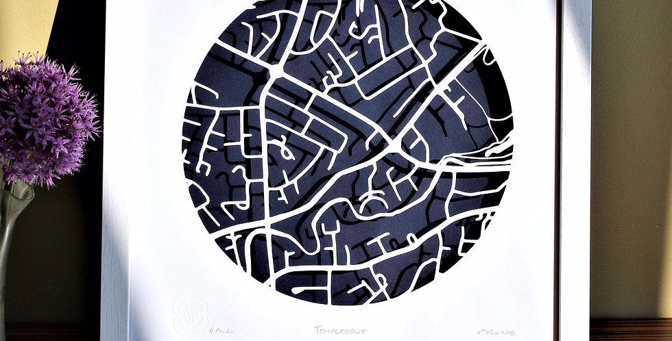 Templeogue Papercut Map