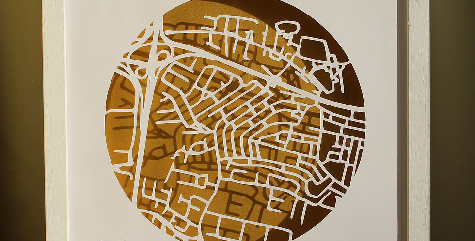 Palmerstown framed papercut