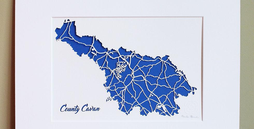 Cavan papercut map