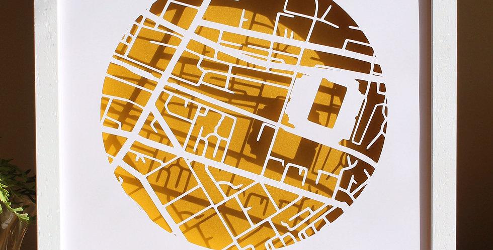 Croke Park papercut map