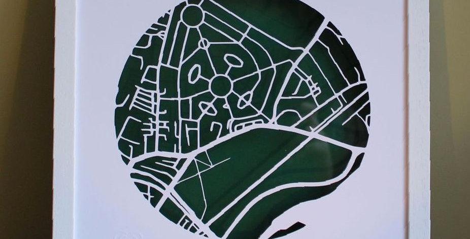 Fairview papercut map