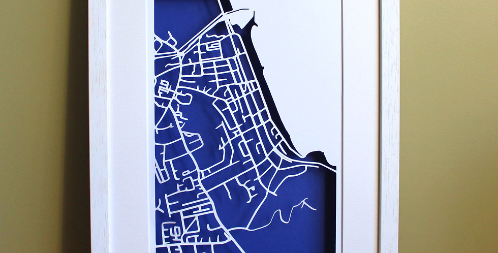 Bray papercut map