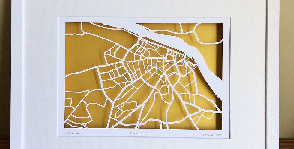 Waterford papercut map