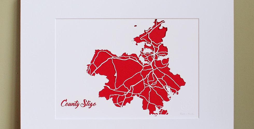 Sligo papercut map