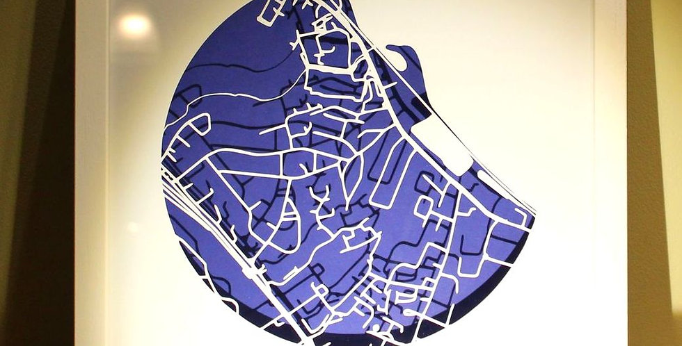 Booterstown papercut map