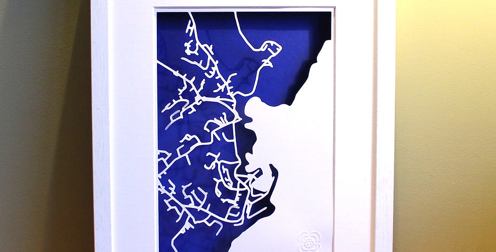 Dunmore East papercut map