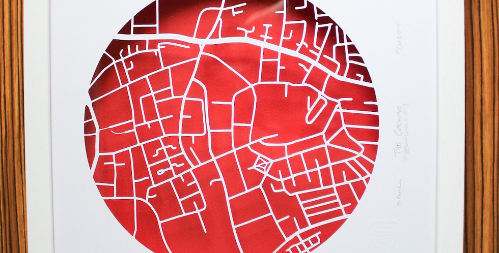 papercut map Newmarket, Dublin