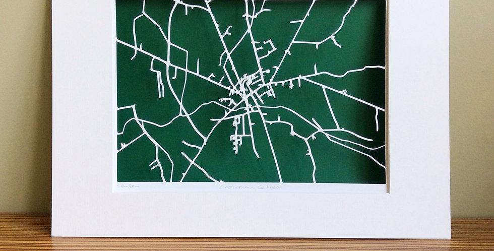 Castleisland papercut map