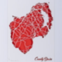 County Down laser cut map