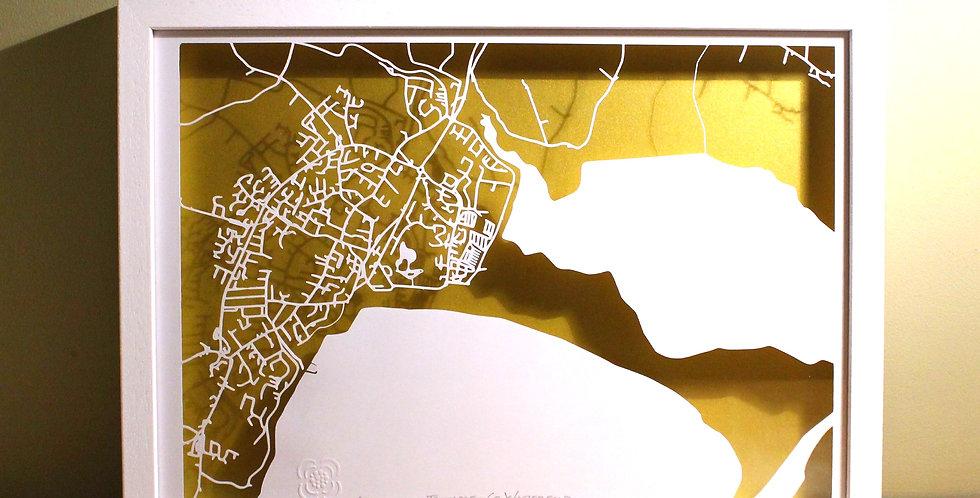 Tramore papercut map
