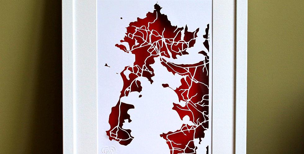 Belmullet papercut map