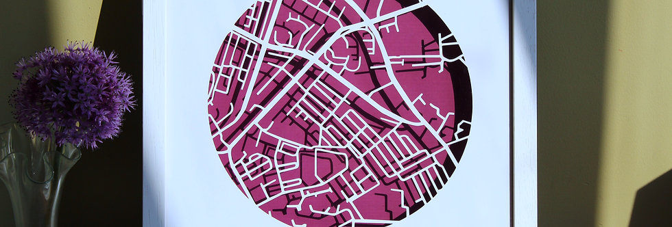 Stoneybatter Papercut map