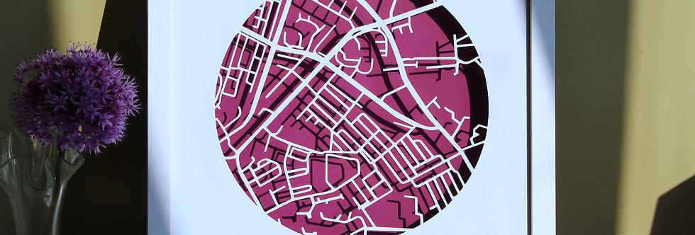 Stoneybatter Papercut map