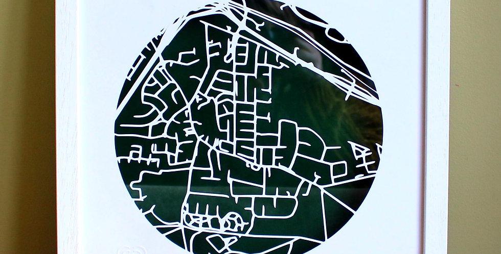 Castlenock papercut map