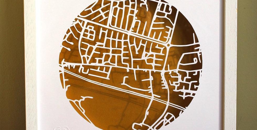 Clonsilla papercut map