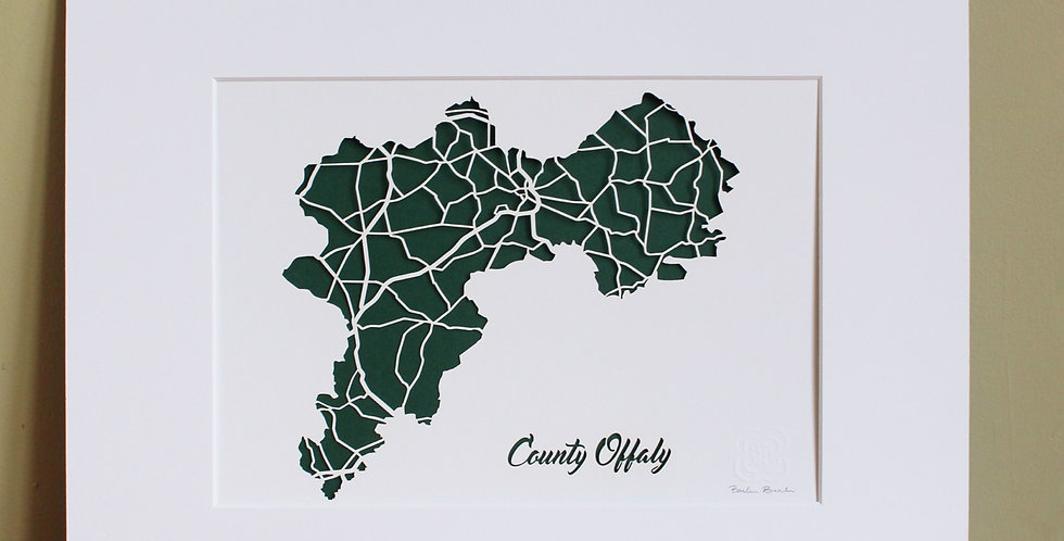 Offaly papercut map