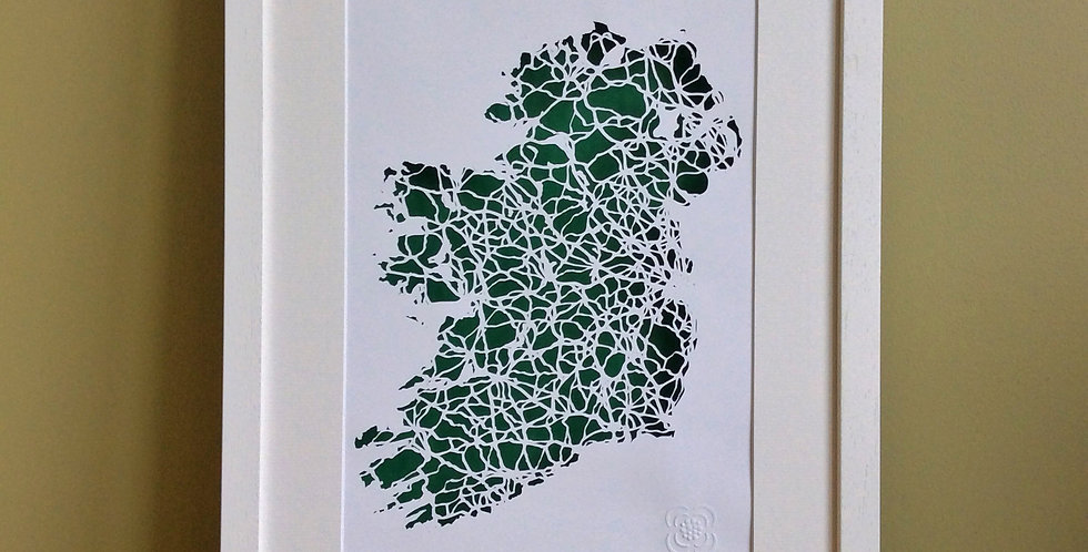 Ireland papercut map