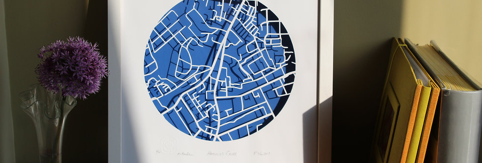 Harold's Cross Papercut map