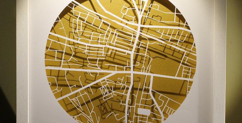 Phibsborough papercut map