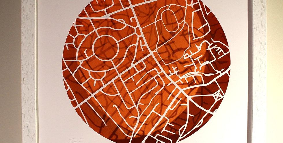 Sundrive papercut map