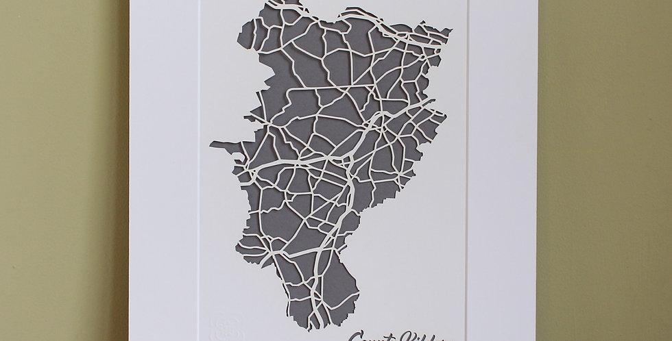 Kildare papercut map