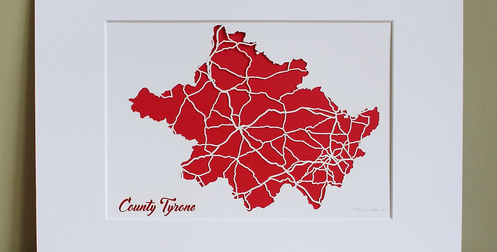 Tyrone papercut map