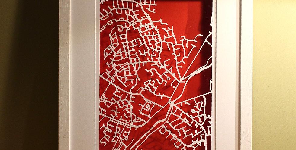 Celbridge papercut map