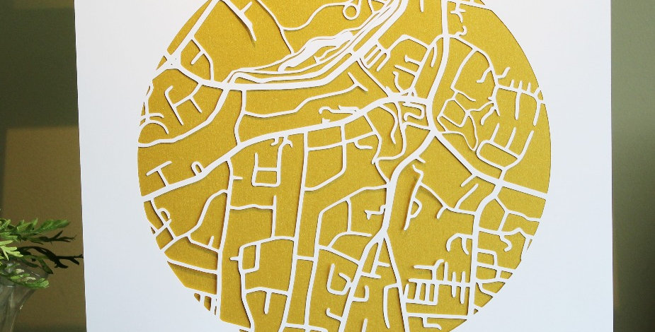 Rathfarnham papercut map