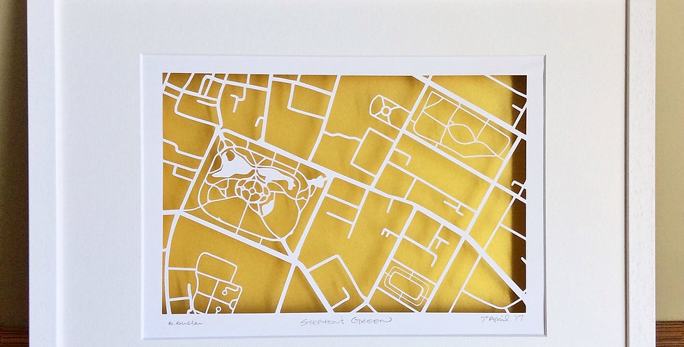 St Stephen's green papercut map
